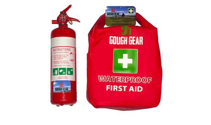 Fire extinguisher and First Aid Kit